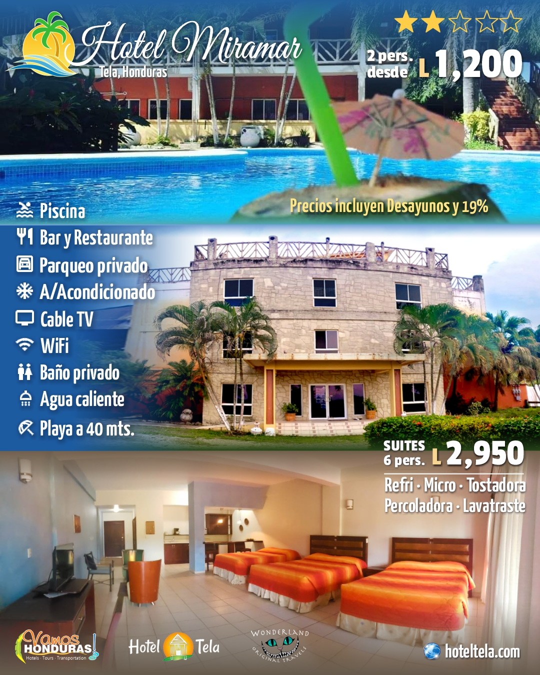 Hotel Miramar, Tela, Honduras
